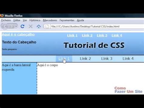 css tutorial on youtube tutorial de css parte 3 quot barra menu quot de links youtube