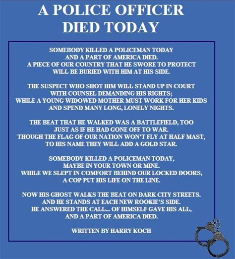 Prayers For Officers by Correctional Officer Prayers And Poems Images