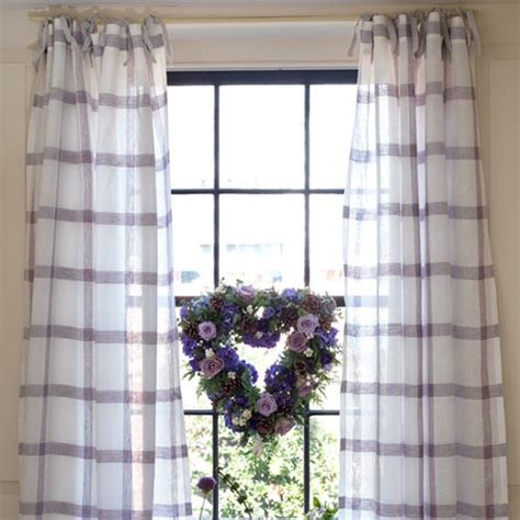 make country curtains how to sew tie top curtains make your own curtains
