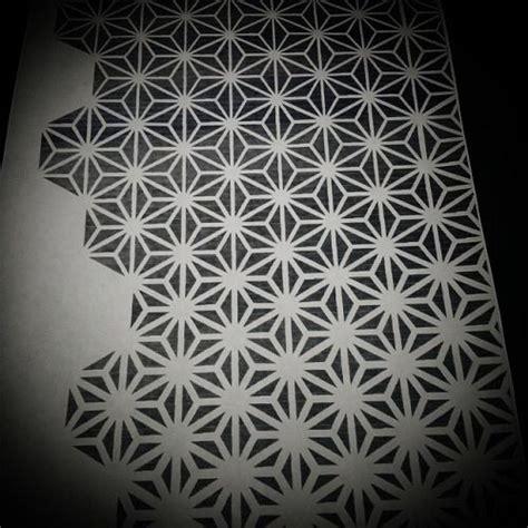repetitive pattern tattoo asanoha pattern tattoo designs pinterest
