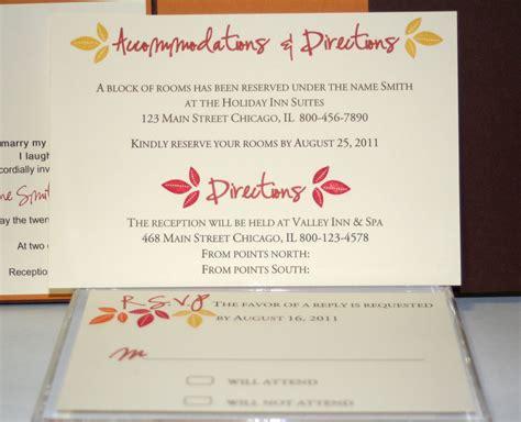 Wedding Invitation Accommodation Wording