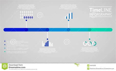 design visualization dreamzone time line infographic vector illustration stock vector