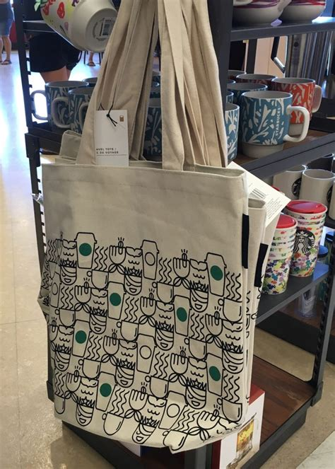 Tote Bag Kanvas Starbucks cocoa honey cold brew and a totes adorable tote