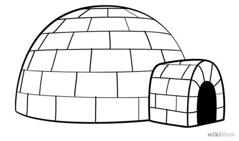 how to draw an igloo drawing sketch coloring page