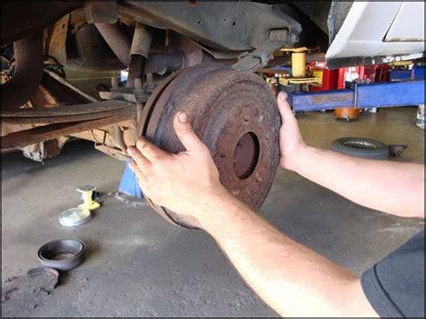 car repair    remove  rear brake drums    dodge ram van