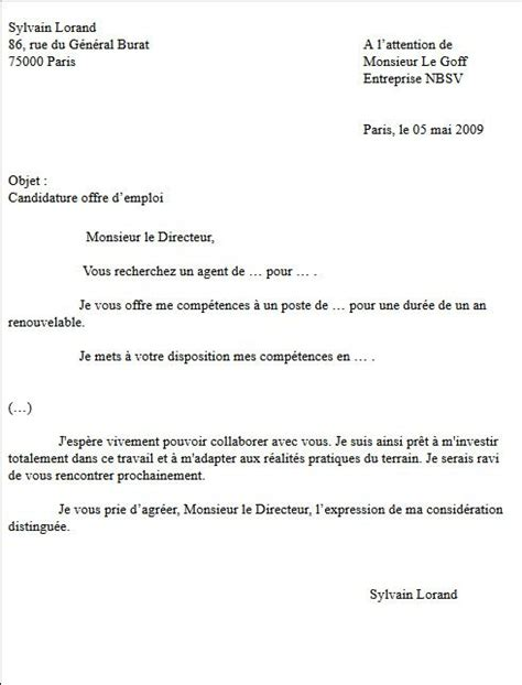 Rédiger Cv by Lettre De Motivation Fle Employment Application
