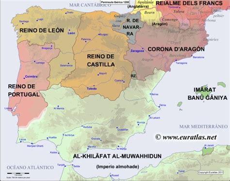 iberian peninsula on map map of the iberian peninsula in the year 1200 edad media