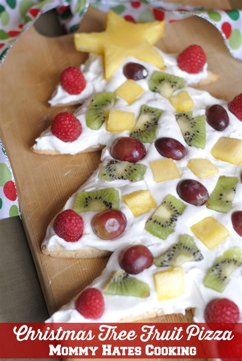 christmas tree fruit pizza mommy hates cooking