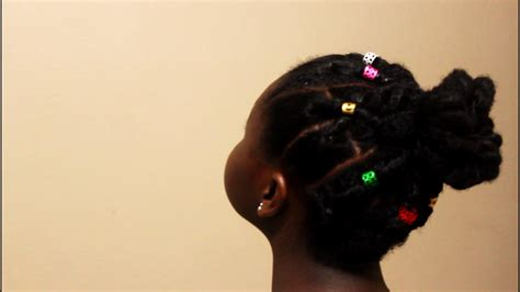 natural hairstyle w jewels rubber band for holidays discoveringnatural cute elastic natural hairstyles