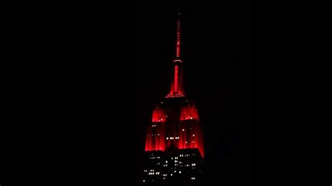 empire state building lights today empire state building lights for valentine s day youtube