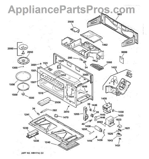 ge spacemaker microwave parts diagram ge wb36x10003 light bulb appliancepartspros