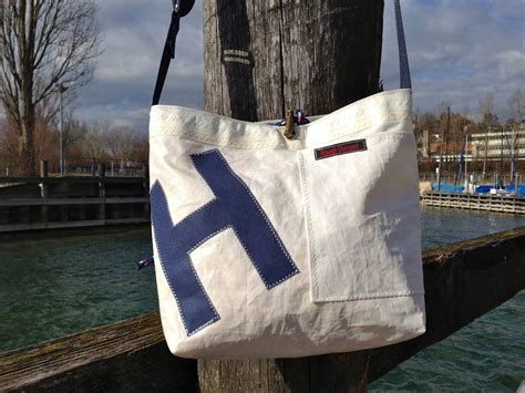 Sailcloth Totes From Flag Design by Recycled Sail Bag By Element Nautical Style