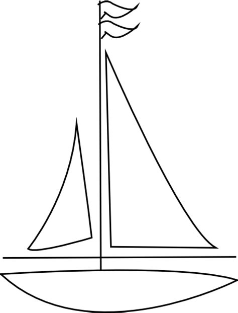 boat outline picture boat outline clip art at clker vector clip art