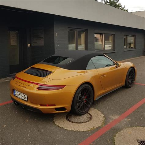 gold porsche convertible this porsche 911 gts secretly uses 911 turbo s exclusive