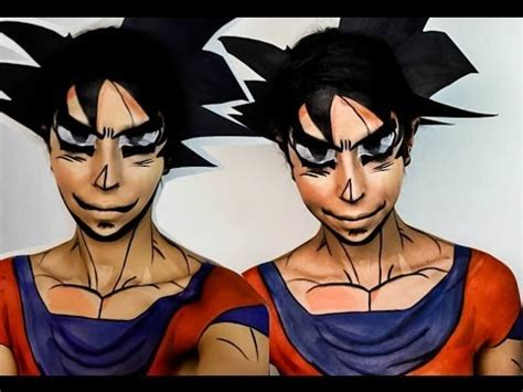 imagenes de goku halloween halloween makeup dragon ball z goku makeup tutorial youtube