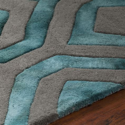rugs fran hand tufted area rug teal grey fra 42101 1