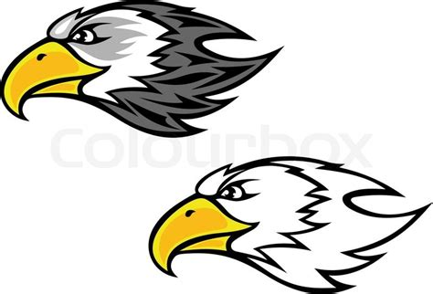 cartoon falcon or hawk head for mascot or tattoo design