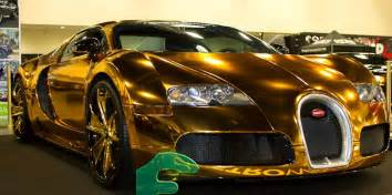 Bugatti Veyron Gold Plated Bugatti Veyron Gold Wrapped For Us Rapper Flo Rida