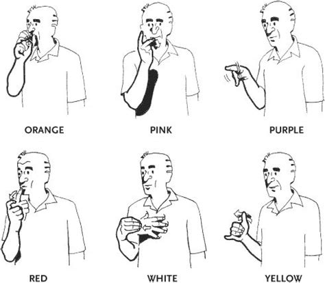 sign for color 25 best ideas about sign language phrases on
