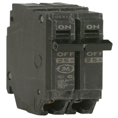 home depot pole ls ge q line 25 amp 1 in double pole circuit breaker thqp225