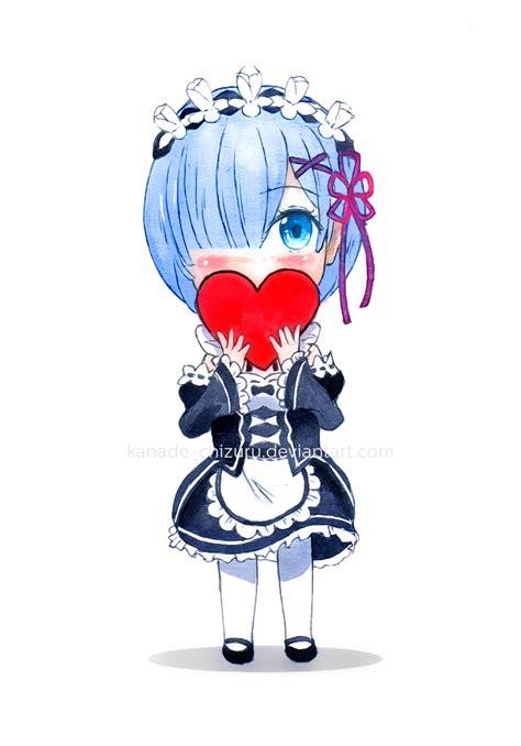 Kaos Rem Chibi Re Zero Hobiku Anime Store chibi sketch rem re zero by kanade chizuru on deviantart