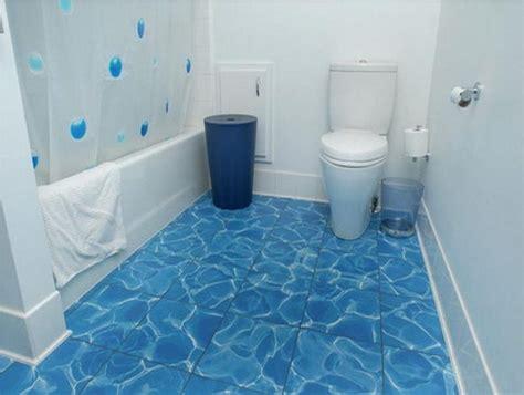 Unique Bathroom Flooring Ideas by Unique Blue Tile Flooring Ideas For Small Bathrooms Using