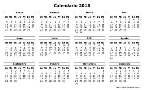 calendario de argentina 2015
