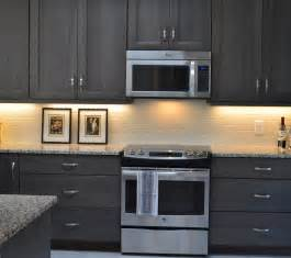 Gray Stained Kitchen Cabinets Grey Stained Hickory Cabinets Grey Kitchen Https Www Finedesignbyamber Ref Hl