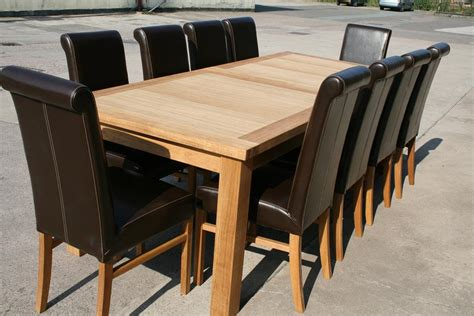 large oak dining room table seats    chairs ebay