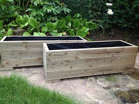 Large Trough Planters by 2 Metre Large Wooden Garden Trough Planters Made In
