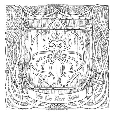 thrones coloring book the official a of thrones coloring book george r r