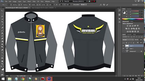 desain baju bomber persib tutorial dasar photoshop buat desain jacket youtube