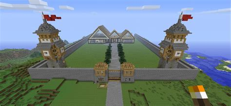minecraft country house fortified country house redstone light brick ready minecraft project