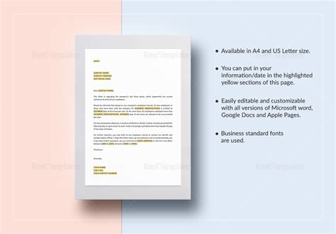 Confusion Regarding Sick Leave Policy Template In Word Google Docs Apple Pages Sick Leave Policy Template