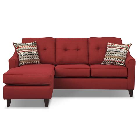 american signature chaise marco chaise sofa red american signature furniture