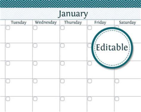 editable monthly calendar template editable calendar template