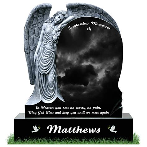 blessing on of granite headstones memorial gravestone grave memorials