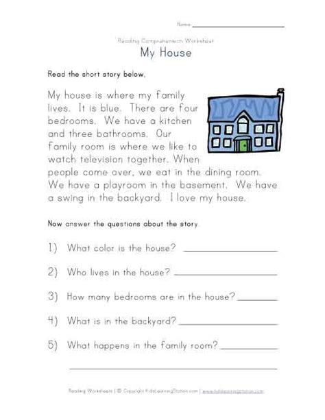 printable reading comprehension test with answers free print kindergarten comprehension worksheets view