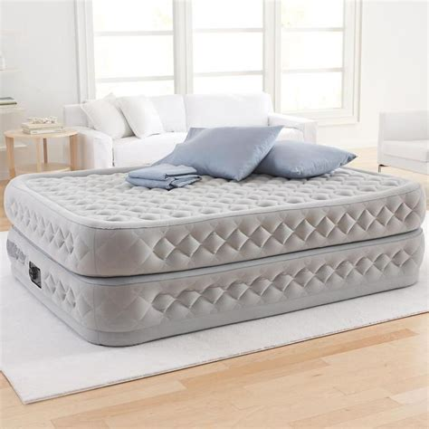 best blow up bed supreme air flow queen size elevated air bed at brookstone