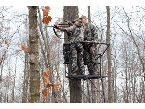 Rivers Edge Comfort Tree Seat by Rivers Edge Twoplex Comfort Ladder Treestand Steel