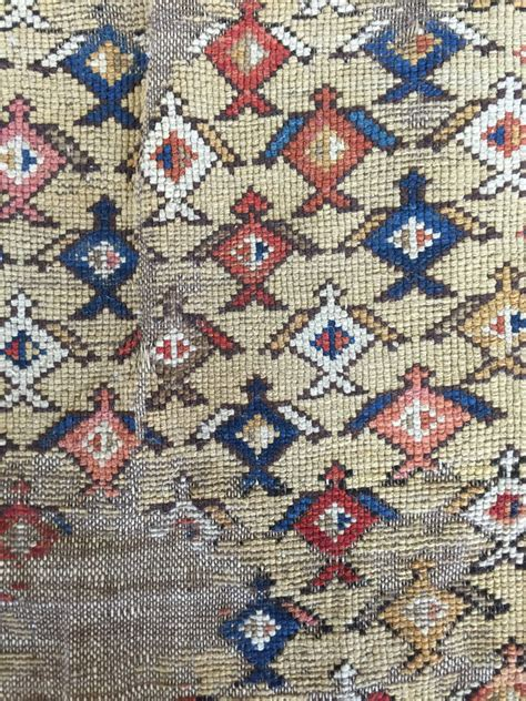 really cool rugs mystery rug not sure what it is but its worn and cool border and gold field