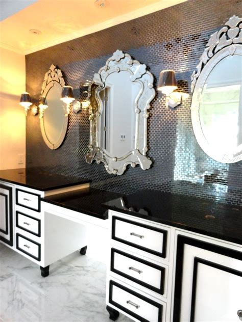 hollywood regency bathroom black and white vanity hollywood regency bathroom