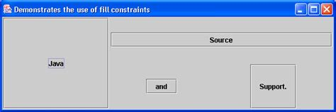 java layout constraints gridbaglayout with weight constraint gridbaglayout