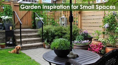 garden inspiration for small spaces dot
