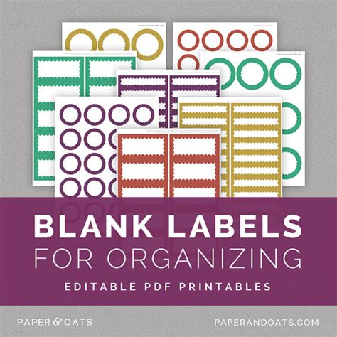 free printable label templates for organizing 8 best images of home office labels printable craft