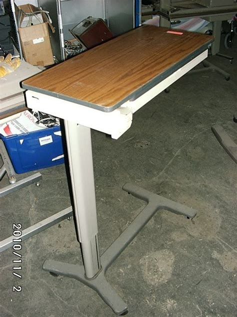 used hospital bed table for sale hospital bed patient tray table the bed ebay