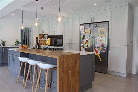 breakfast bar bench great american fridge freezer kitchen contemporary design