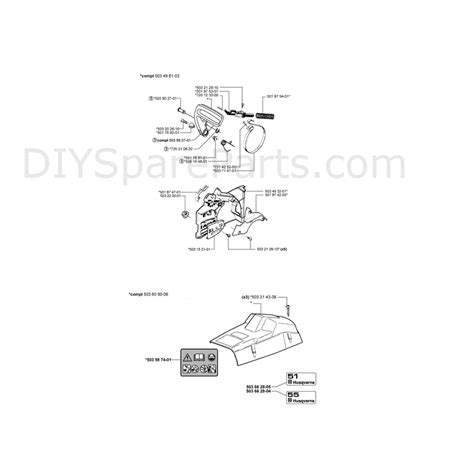 husqvarna chainsaw parts diagram husqvarna 55 chainsaw 2000 parts diagram page 1