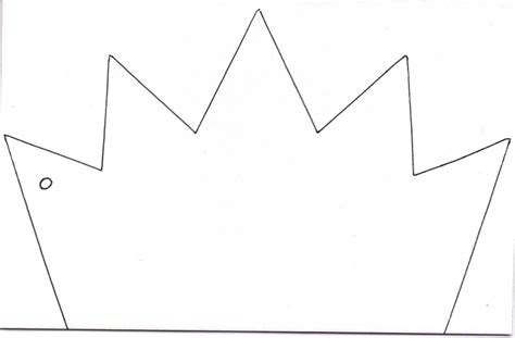 printable crown king crown template clipart best