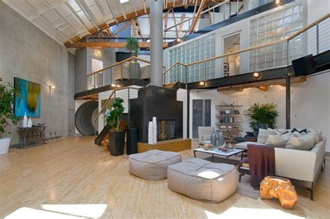 loft homes spacious loft home inspired from airplane hangar design